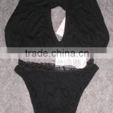 Black Strechable Bra & panty set lingeries womens indian bra & panty for girls