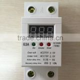 2015 New Single phase Digital type Household Automatic Over and Under voltage Protection Device HDP-63