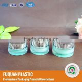 15ml double wall jar metalized with loop cap for cosmetics