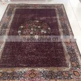 handmade silk persian carpet floral design iranian silk carpet wholesale cheap price silk rugs