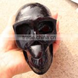 Natural Polished Black Tourmaline Price Stone Skull Crystal Crafts