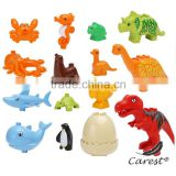 ABS plastic toys dinosaur and infauna Creative DIY Children Building Blocks Compatible With LEGoll DUPLO Brick Education Toys