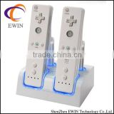 For wii blue light controller charger station -with 4*2800mA batteries
