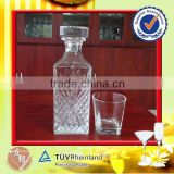 hot selling 800ml square glass liquor decanter