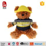 High Quality Plush Stuffed Fireman Teddy Bear Toys China Wholesaler