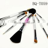 2014 high quality fashion makeup brushes Makeup brush sets for cosmetics acrylic brush acrylic lip gloss bottle