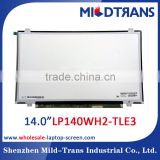 china laptop parts wholesaler! 14.0 inch laptop lcd display for LP140WH2-TLE3 led screen