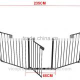 Metal Fire Gate Fireplace Fence Baby Safety Fence Hearth Gate
