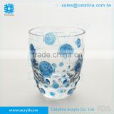 Bubble Fish Pattern Water Tumbler Cup Glass Lotion Dispenser Cotton Toothbrush Soap Holder Acrylic Bathroom Accessory