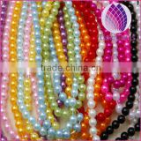 wholesale connecting 6mm immitation pearl ABS plastic round plastic beads chain for clothing and christmas decoration