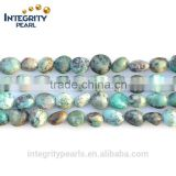 6*8mm irregular coin shape gemstone african turquoise beads natural green turquoise beads