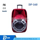 12 inch DJ club professional speaker powered portable trolley bluetooth multimedia speaker with remote DP-160