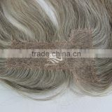High Quality Natural Looking Swiss Lace Base Indian Mixed Grey Lace Closure