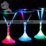 LED flashing cup/LED PS/Plastic martini cup for party, bar, pub, club cup