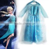2016 frozen elsa dress long frocks for teenagers pictures boutique girls party dresses kids clothes petti skirt