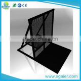 2016 cheap cost Aluminum barricade hot dipped black mojo crowd control barrier for event