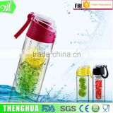 500ml factory wholesale transparent plastic water bottle shaker design