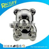 metal lovely panda-shape coin bank for baby gift