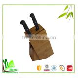 Creative style bamboo knife set with block