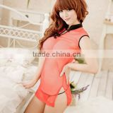 2015 transparent sexy costume cheongsam