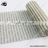 Rhinestone mesh White Pearl color sheets hotfix rhinestone transfer trimming for clothing