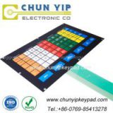 Large keypad embossed buttons membrane switch manufacturer