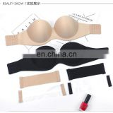 New Fashion Women Bra Sexy 1/2 Cup Seamless Bra Push Up Bralette Half Cup Black A/B/C/D Cup Strapless Invisible Bra Underwear