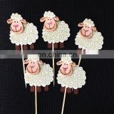 High Quality Cute little sheep Cupcake Topper Birthday Party Cake Decoration Baby Cake Topper