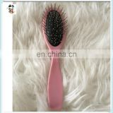 Pink Anti-static Handle Professional Hair Wigs Piece Tool Steel Comb HPC-0197