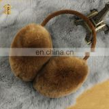 Winter Warm Unisex Sheared Cute Genuine Rex Rabbit Fur Ear Muffs