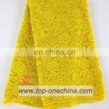 Wholesale cord lace pure yellow swiss cord lace for garment 2015 On Sale With limited quantity