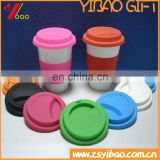 2017 High quality silicone cup cover reusable Leakproof silicone cup lid cover