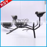 Professional Manufacturer Wholesale Decorative Black Metal Flower Candle Lantern Holder