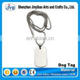 factory price custom metal blank dog tags with own logo