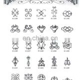 2012 china manufacturer stamping leave design decorative forged cast steel iron components