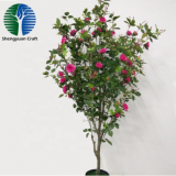 hot sale artificial rose tree bonsai tree home decoration