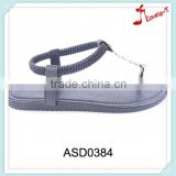 Trendy flip flop style stylish strap pailleter flat sandals for women with elastic ankle loop