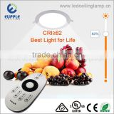 Indoor Lighting 9W Remote Controlled LED Panel 24V DC Brightness Round Dimmable LED Panel Light