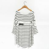 OEM service simple stripe printed jersey fashion women basic t shirt                                                                         Quality Choice