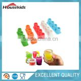 4-Cup Shaped Silicone Ice Cube Shot Glass Freeze Mold Maker Ice Tray
