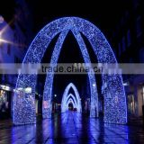 Street festival Rainbow tube light arches decoration