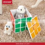 D641 Elegent design magic cube shaped plastic storage container collection box toys storage box of ABS material