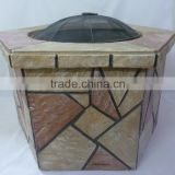 Outdoor Fire Pit Table With Ceramic Tiles charcoal bbq grills