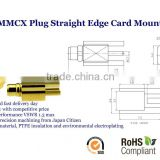 MMCX Plug Male Straight Edge Card Mount Coaxial Connector 50 ohms