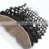 Stock Cheap price Deep Curly Unprocessed virgin human hair lace frontals piece 13x4