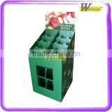 promotional cardboard recycling bins floor dump bins display for Christmas decorate shop retail