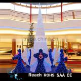 Led christmas scene 3D Motif Light christmas decoration led lights tree and angle decoration for shopping mall center