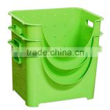 Plastic Stackable storage basket storage bin