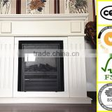 Europe style white painting home decor furniture electriced wooden fireplace