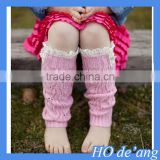 HOGIFT Children's colorful knee sock, hollow top boot sock, wool lace knee high boot socks
